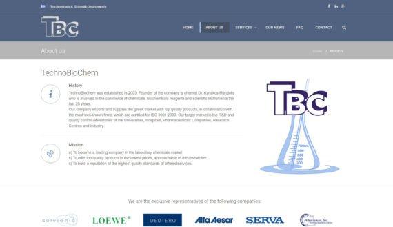 TechnoBioChem | Χημικά – Βιοχημικά & Επιστημονικά Όργανα