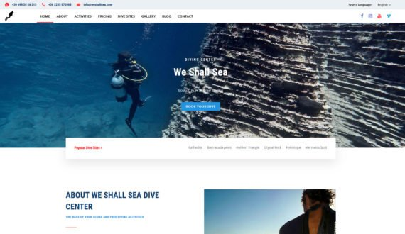 WE SHALL SEA DIVING CENTER | Ιστοσελίδα 1